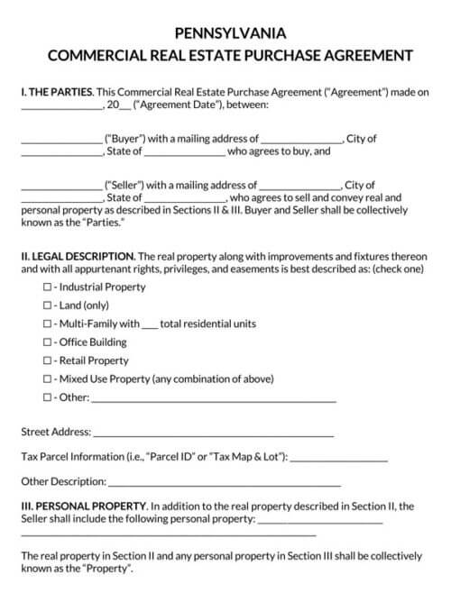 Pennsylvania-Commercial-Real-Estate-Purchase-Agreement_