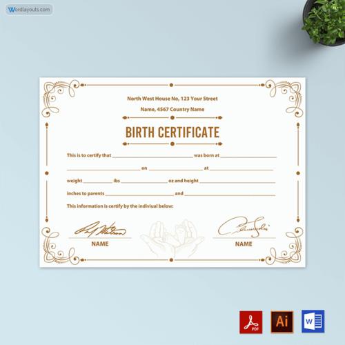Editable Free Birth Certificate