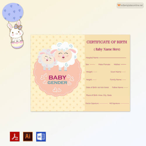 Baby Girl Birth Certificate Free
