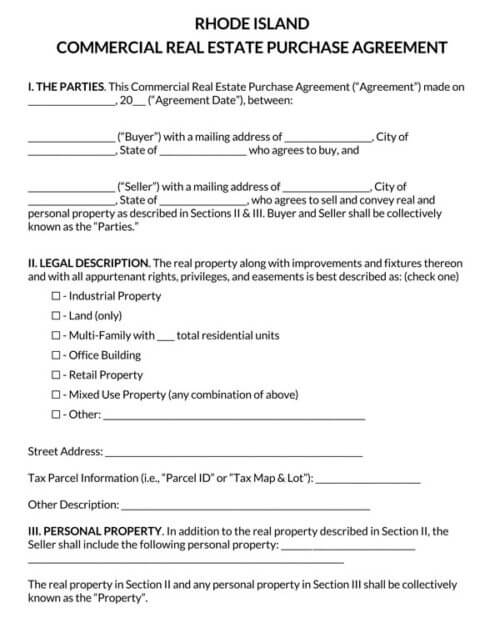 Rhode-Island-Commercial-Real-Estate-Purchase-Agreement_