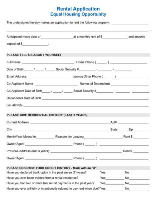 Simple-Rental-Application