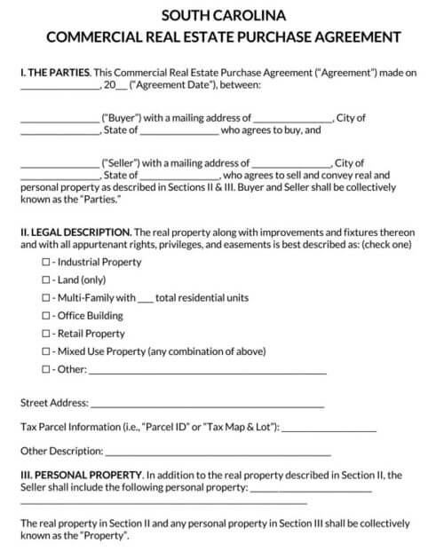 South-Carolina-Commercial-Real-Estate-Purchase-Agreement