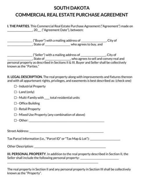 South-Dakota-Commercial-Real-Estate-Purchase-Agreement