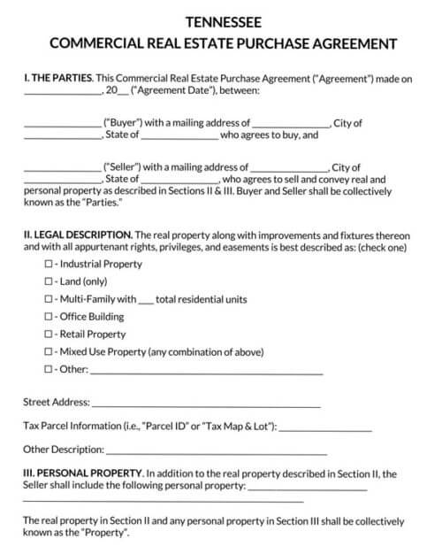 Tennessee-Commercial-Real-Estate-Purchase-Agreement_