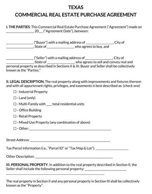 Texas-Commercial-Real-Estate-Purchase-Agreement_