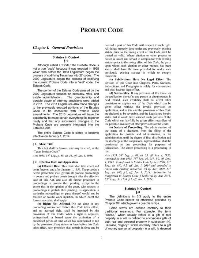 Texas Probate Code