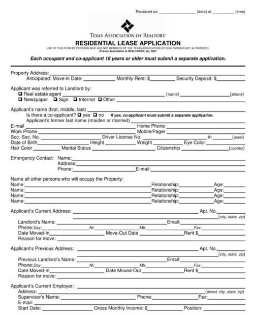 Texas-Residential-Lease-Application-Form_