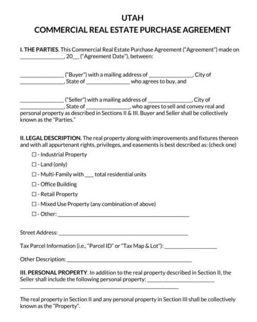 Utah-Commercial-Real-Estate-Purchase-Agreement_