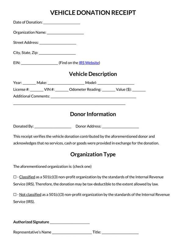 Vehicle-Donation-Receipt-Template
