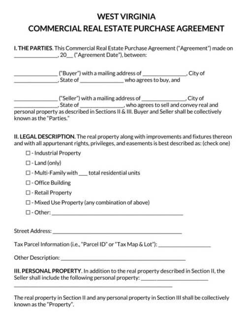 West-Virginia-Commercial-Real-Estate-Purchase-Agreement_