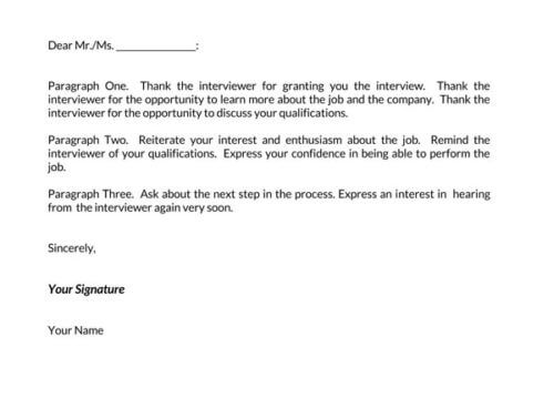 best thank you letter after interview 2021