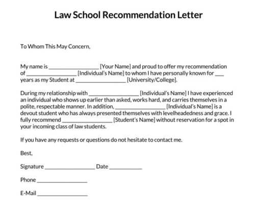 Law-School-Recommendation-Letter-Template