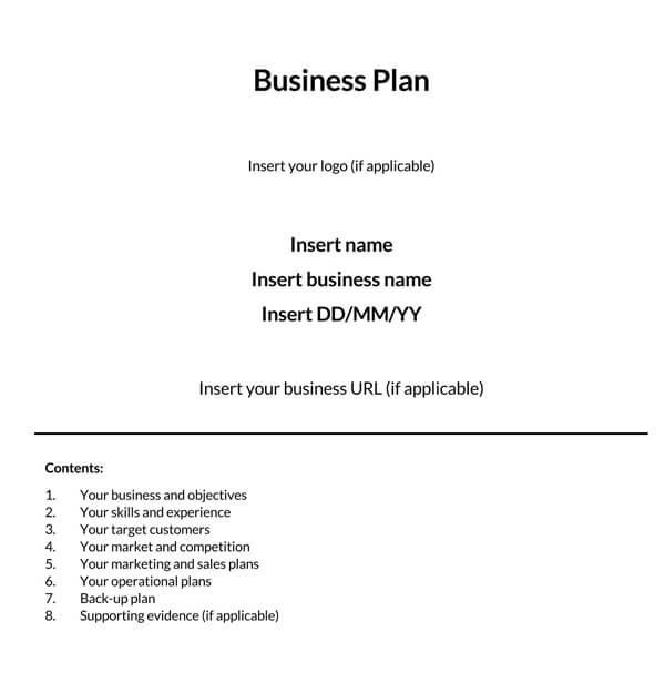 Online-Business-Plan-Template