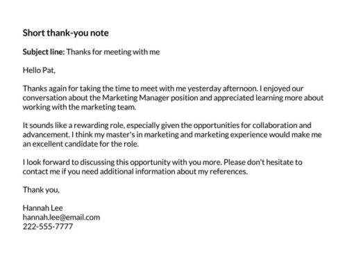 thank you letter 3 days after interview