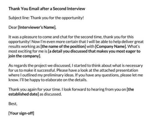 thank you letter after interview template