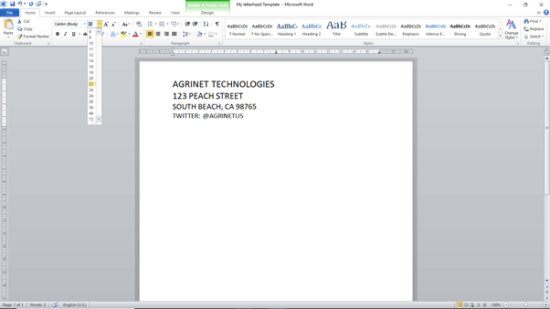 Creating Letterhead Template Word Step-4