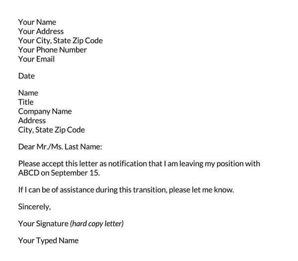 Basic-Resignation-Letter