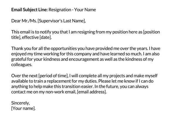 Email-resignation-message