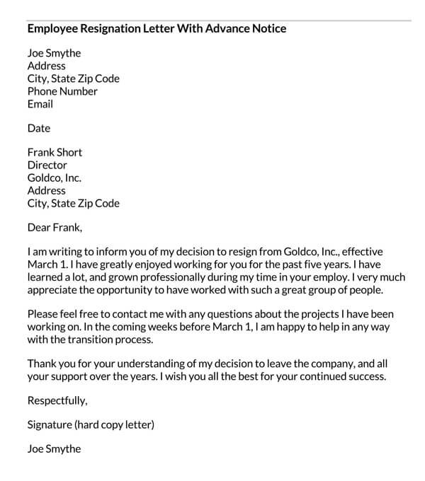 Employee-Resignation-Letter-With-Advance-Notice
