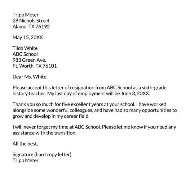 Heartfelt-Resignation-Letter-Example