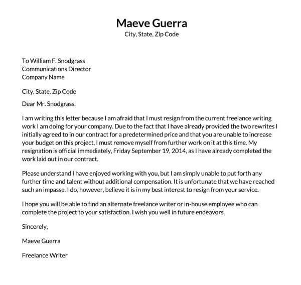 Independent-Contractor-Resignation-Letter