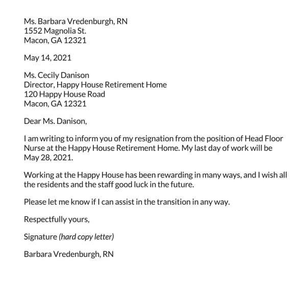 Nurse-Resignation-Letter