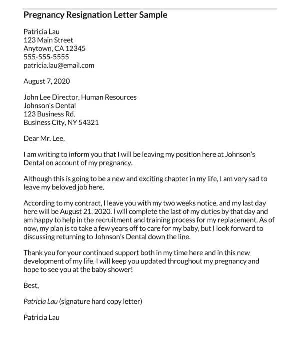 Pregnancy-Resignation-Letter-Sample