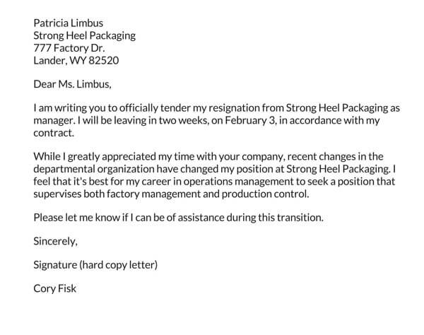 Resignation-Letter-due-to-Company-Changes