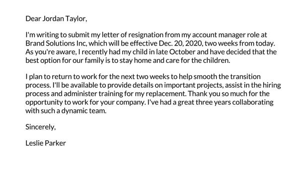 Resignation-letter-after-maternity-leave-example