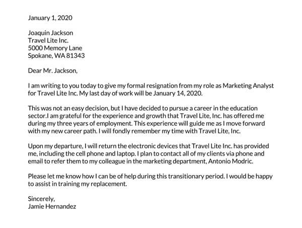 Resignation-letter-due-to-a-career-change