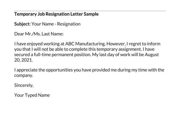 Temporary-Job-Resignation-Letter-Sample