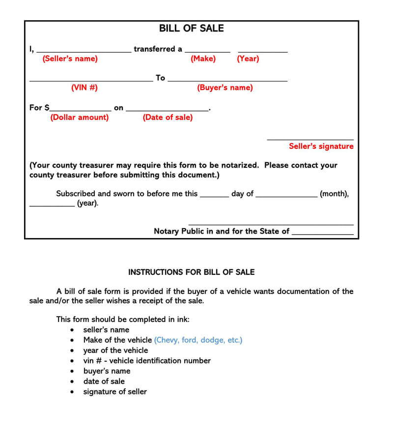 ATV Bill of Sale Form 02