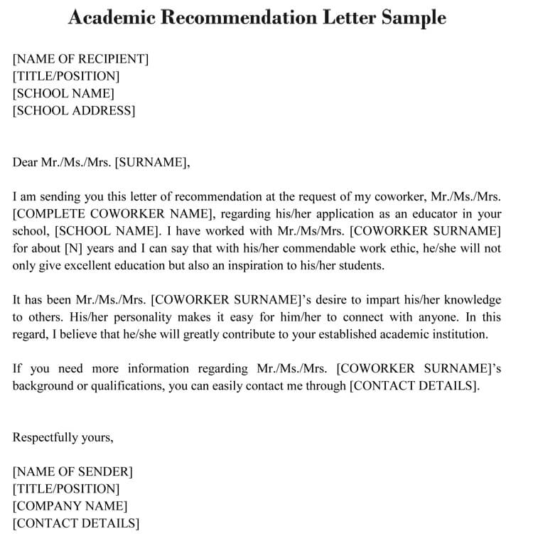 Asking For A Letter Of Recommendation From A Professor from www.wordtemplatesonline.net