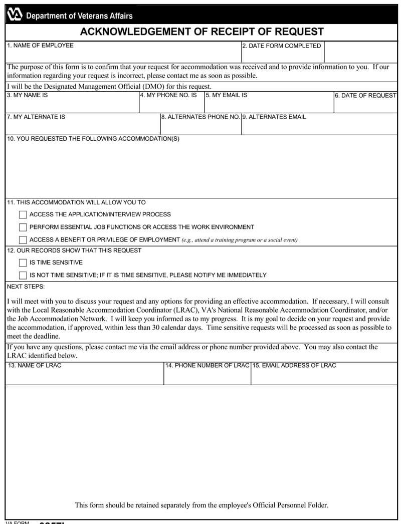Acknowledgement Request Receipt