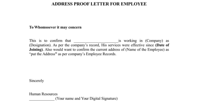 employment verification letter     proof of employment letters     The Letter Sample