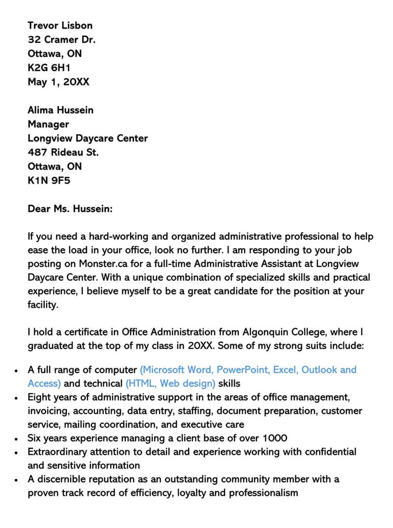 Sample Clerical Cover Letter And Examples Writing Tips