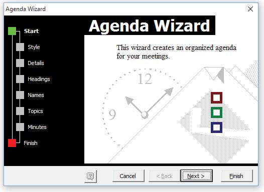 agenda maker for microsoft word