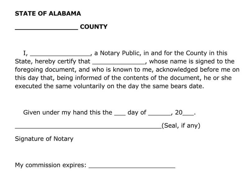 Alabama Power of Attorney Form