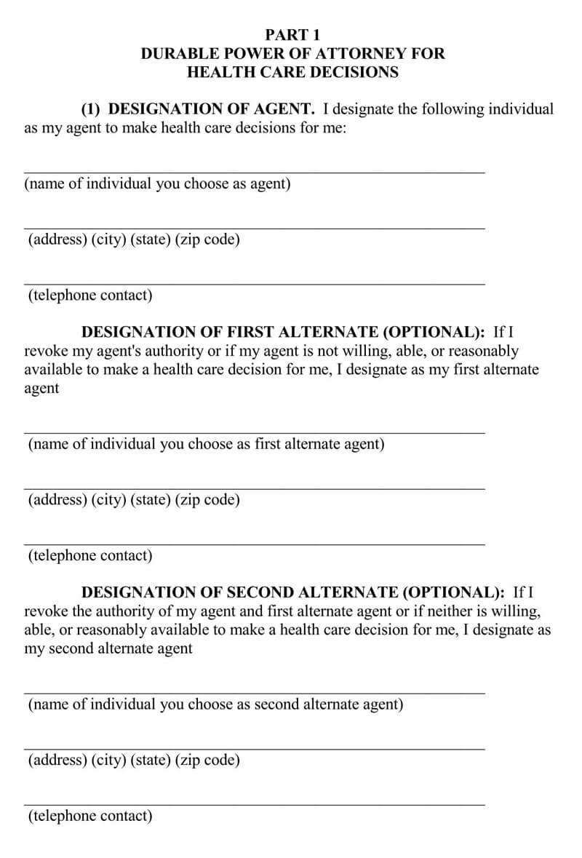 Alaska Medical POA Form