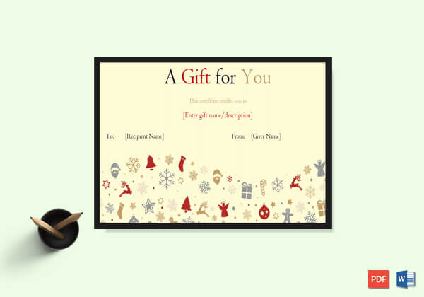 Angels and Candies Christmas Gift Template