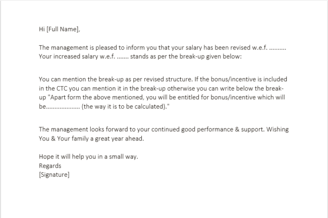 Letter To Get A Raise from www.wordtemplatesonline.net