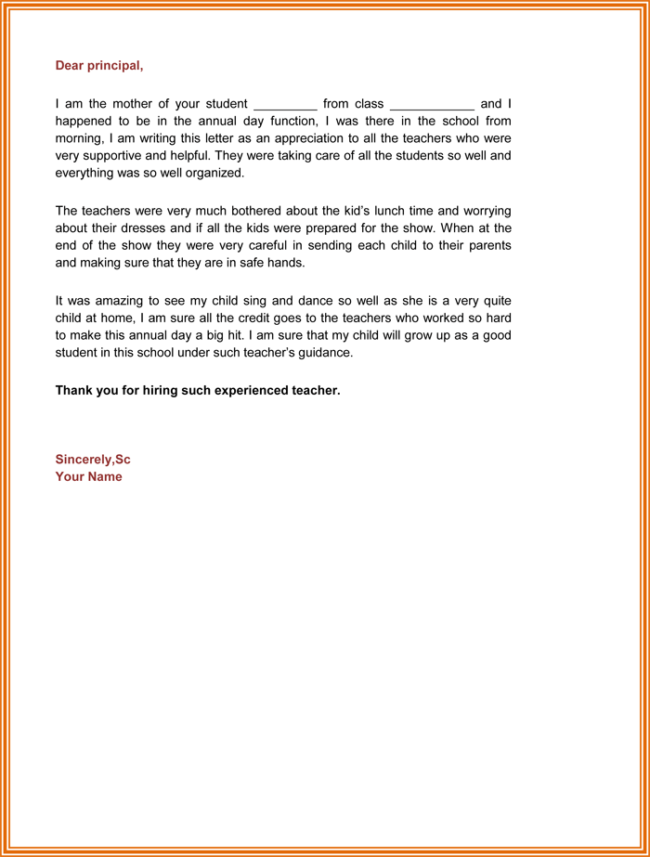 Appreciation Letter For Best School Management  Appreciation Letter