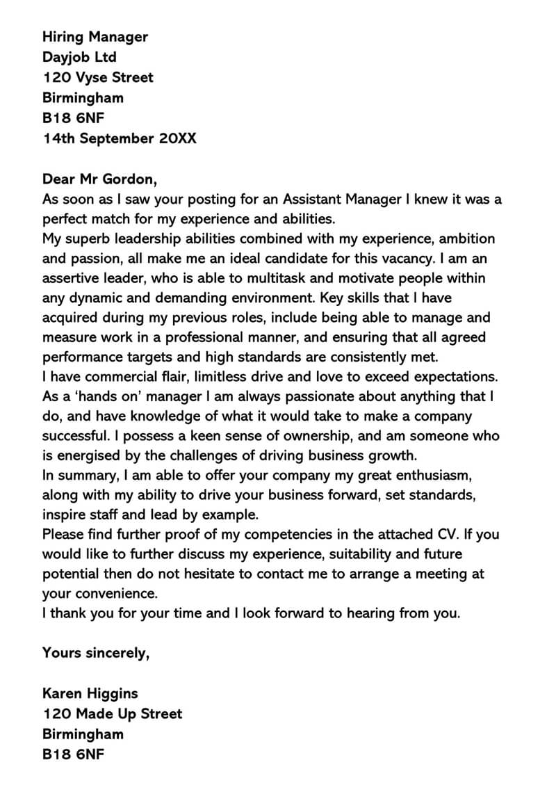 IT Manager Cover Letter (Sample Letters & Examples)
