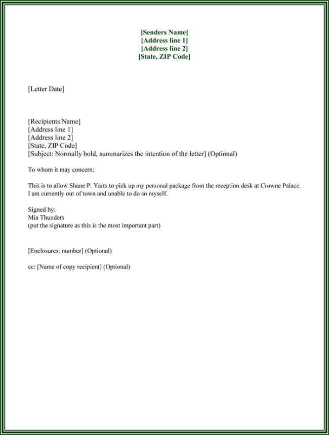 notarized letter of authorization template - 25 best authorization letter samples formats templates
