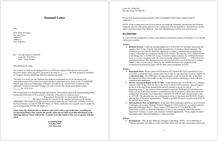Automated Rebuttal Demand Letter in PDF