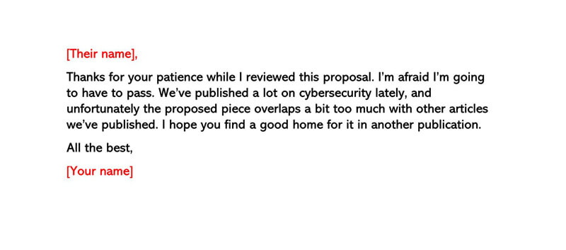 Basic Polite Rejection Letter 01