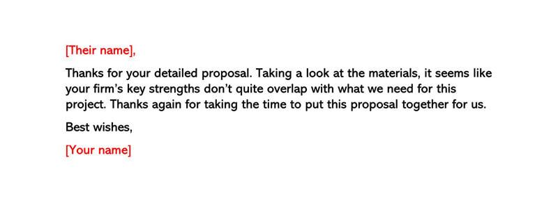 Basic Polite Rejection Letter 03
