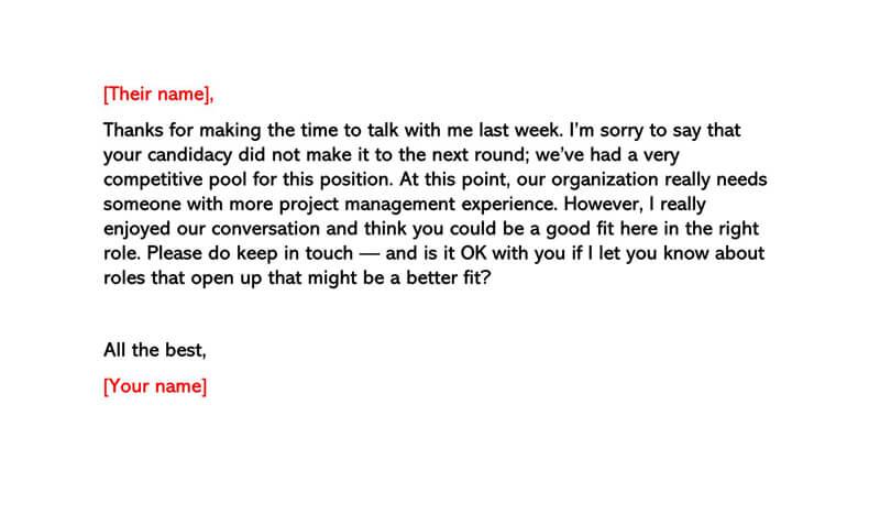Basic Polite Rejection Letter 05