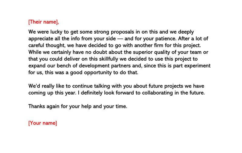 Basic Polite Rejection Letter 06