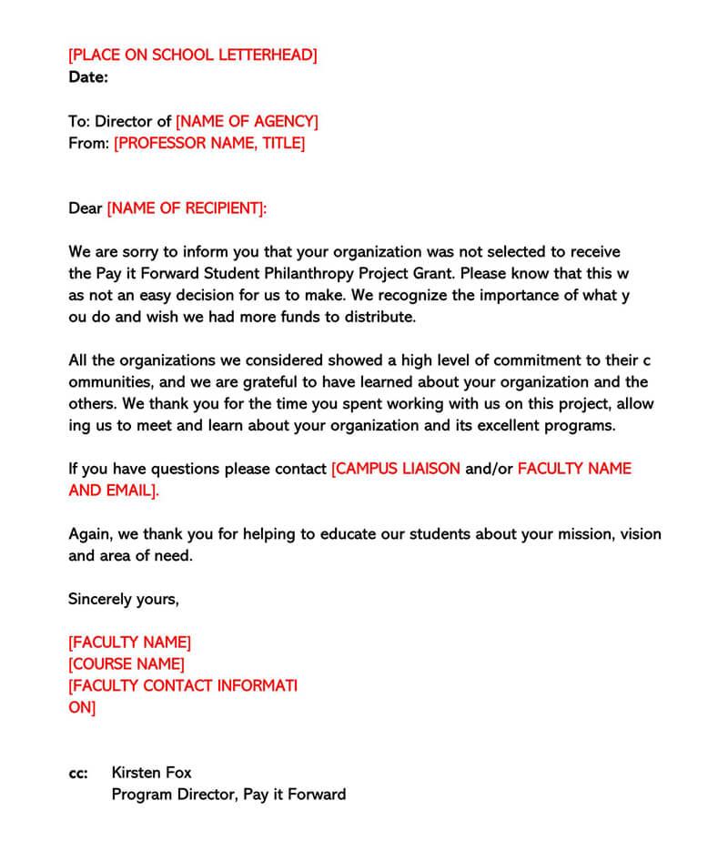Basic Polite Rejection Letter 09